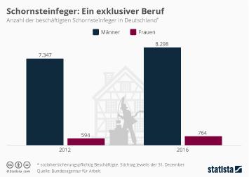 Infografik: Zahl der Schornsteinfeger in Deutschland | Statista