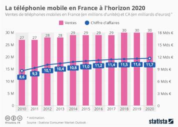 Infographie - La téléphonie mobile en France à l'horizon 2020