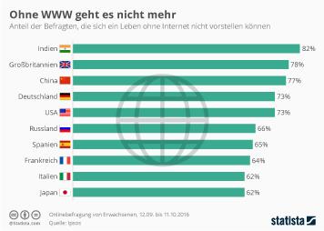 Infografik: Ohne WWW geht es nicht mehr | Statista