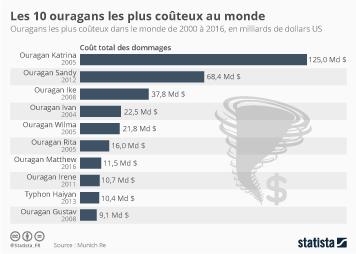 Infographie - Les 10 ouragans les plus coûteux au monde