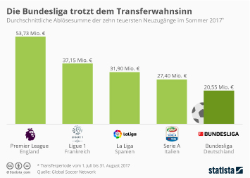 Infografik - Ablösesummen in Europas Fußballligen