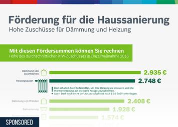 Infografik: Finanzielle Förderung für die Haussanierung | Statista