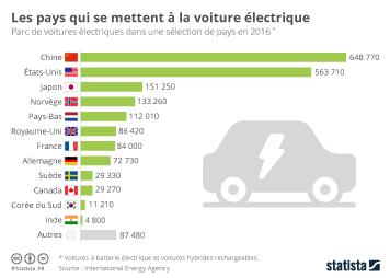 Infographie - Les pays qui se mettent à la voiture électrique
