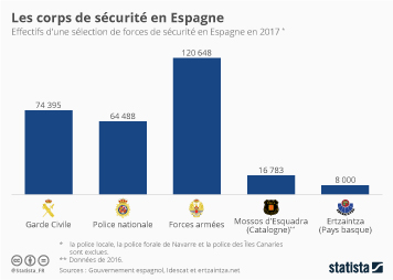 Infographie - Les corps de sécurité en Espagne
