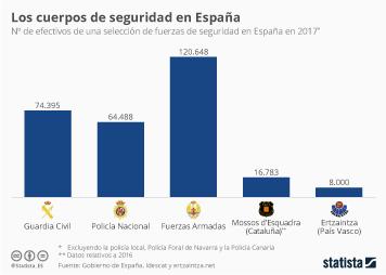 Infografía - Los cuerpos de seguridad dentro de España
