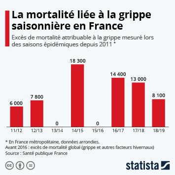 Infographie - mortalité de la grippe en france