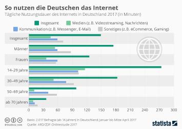 Infografik - So nutzen die Deutschen das Internet