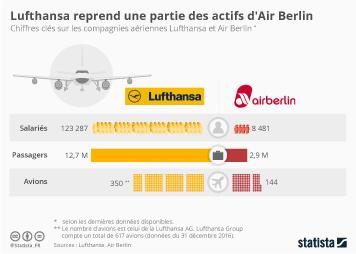 Infographie - Lufthansa reprend une grande partie d'Air Berlin