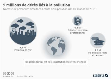 Infographie - 9 millions de décès liés à la pollution
