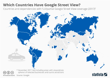 Infographic: Which Countries Have Google Street View?  | Statista