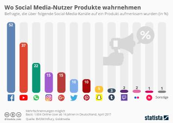 Infografik: Wo Social Media-Nutzer Produkte wahrnehmen | Statista