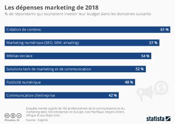 Infographie: Les dépenses marketing de 2018 | Statista