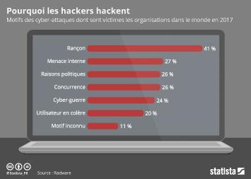 Infographie - Pourquoi les hackers hackent