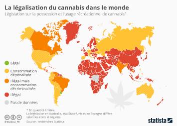 Infographie - La législation du cannabis dans le monde