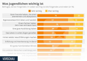 Infografik: Was Jugendlichen wichtig ist | Statista