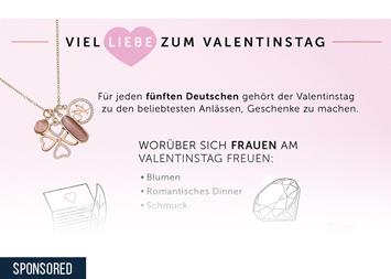 Infografik - Liebesbeweise am Valentinstag