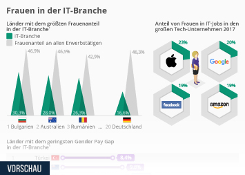 Infografik: Wie weiblich ist die IT? | Statista