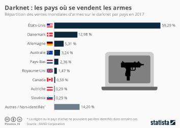 Infographie - Le darknet,  terrain de jeu des vendeurs d'armes