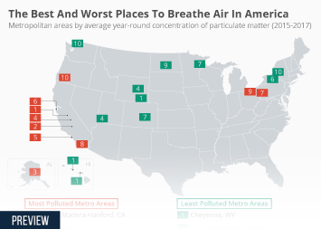 Infographic: The Best And Worst Places To Breathe Air In America  | Statista