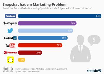 Infografik - Von Social-Media-Marketing-Spezialisten eingesetzte Plattformen