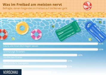 Infografik: Was im Freibad am meisten nervt | Statista
