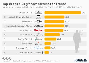 Infographie - Top 10 des plus grandes fortunes de France