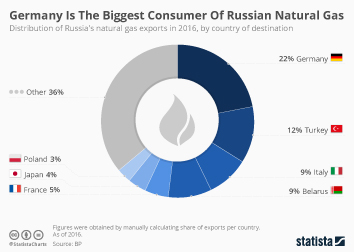 Infographic: Germany is The Biggest Consumer of Russian Natural Gas | Statista