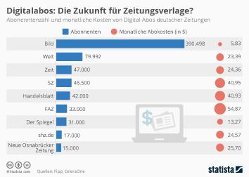 Infografik - Zahlen zu Digitalabos in Deutschland