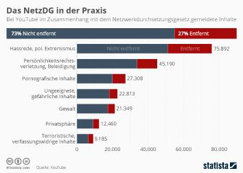 Infografik: Das NetzDG in der Praxis   Statista