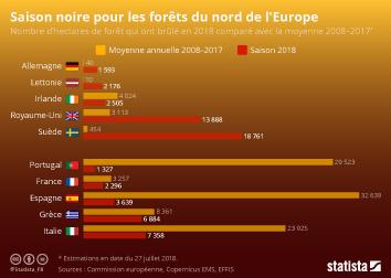 Infographie - Saison noire pour les forêts du nord de l'Europe