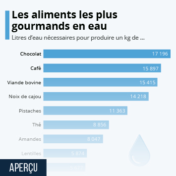 Infographie - combien de litres eau pour produire les aliments