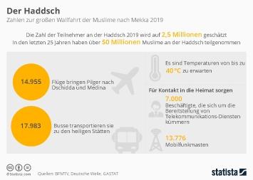 Infografik - Daten zum Haddsch