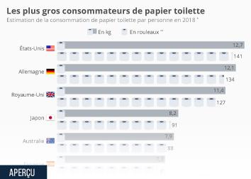 Infographie: Les plus gros consommateurs de papier toilette | Statista