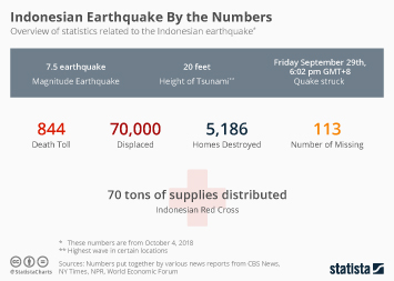 Infographic - Indonesian Earthquake By the Numbers