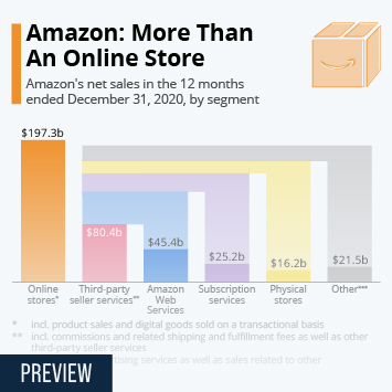 Infographic - Amazon revenue by segment