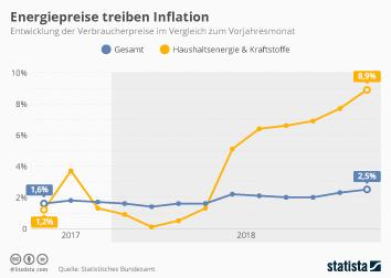 Infografik - Entwicklung der Verbraucherpreise