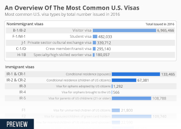 Infographic: An Overview Of The Most Common U.S. Visas | Statista