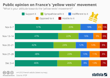 Public opinion on France's 'yellow vests' movement