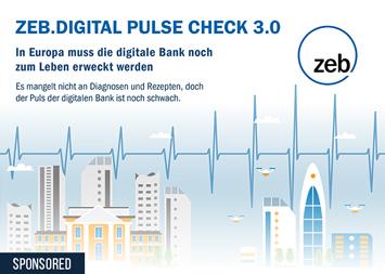 Infografik - Die Digitalisierung europäischer Banken – ZEB.Digital Pulse Check 3.0
