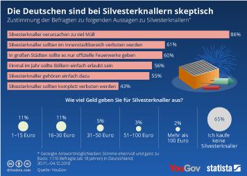 Infografik: Die Deutschen sind bei Silvesterknallern skeptisch | Statista