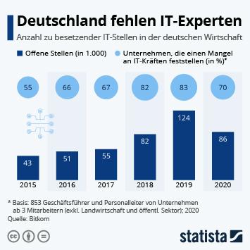 Infografik - zu besetzende IT-Stellen in der deutschen Gesamtwirtschaft