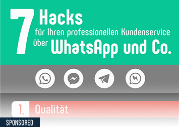 Infografik - Kundenservice WhatsApp