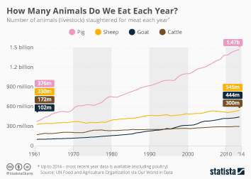 Infographic - number of animals slaughtered for meat each year