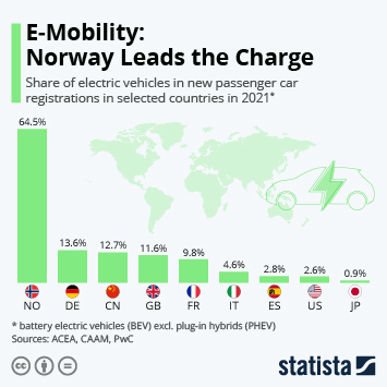 Infographic - Electric vehicle share