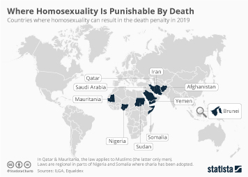 Infographic - countries where homosexuality can result in the death penalty