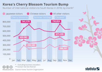 Tourism industry in South Korea  Infographic - Korea's Cherry Blossom Tourism Bump