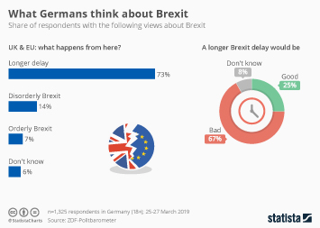 Infographic - share of respondents with the following views about Brexit