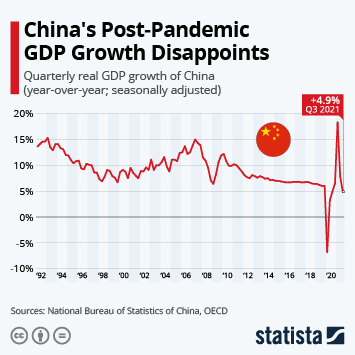 Chinese Economy Shrinks For the First Time