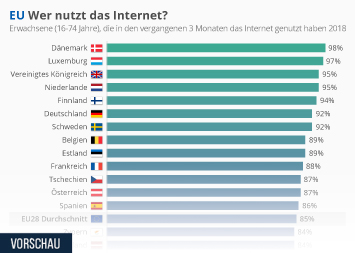 Infografik - Internetnutzung EU