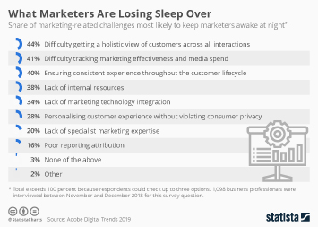 Infographic: What Marketers Are Losing Sleep Over | Statista